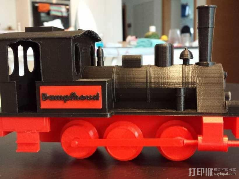 蒸汽机车 3D模型  图2