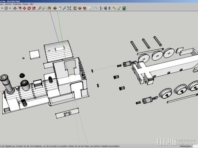 蒸汽机车 3D模型  图3