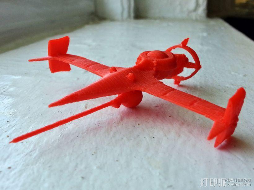 """动画《星际牛仔》""""剑鱼Ⅱ""""号战斗机 3D模型  图1"""