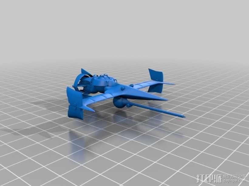 """动画《星际牛仔》""""剑鱼Ⅱ""""号战斗机 3D模型  图2"""