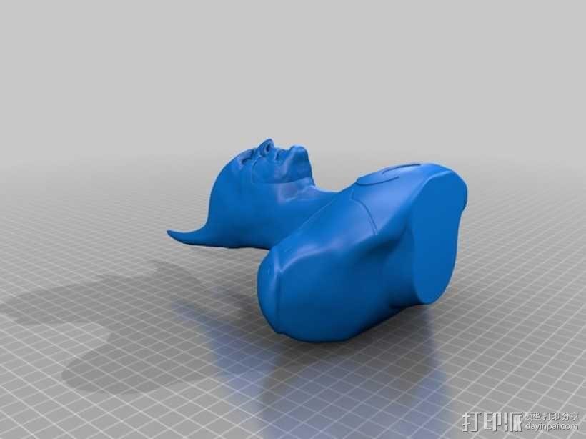 蝙蝠侠 半身像 3D模型  图2