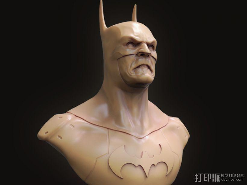 蝙蝠侠 半身像 3D模型  图1