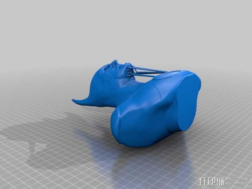 蝙蝠侠 半身像 3D模型  图3