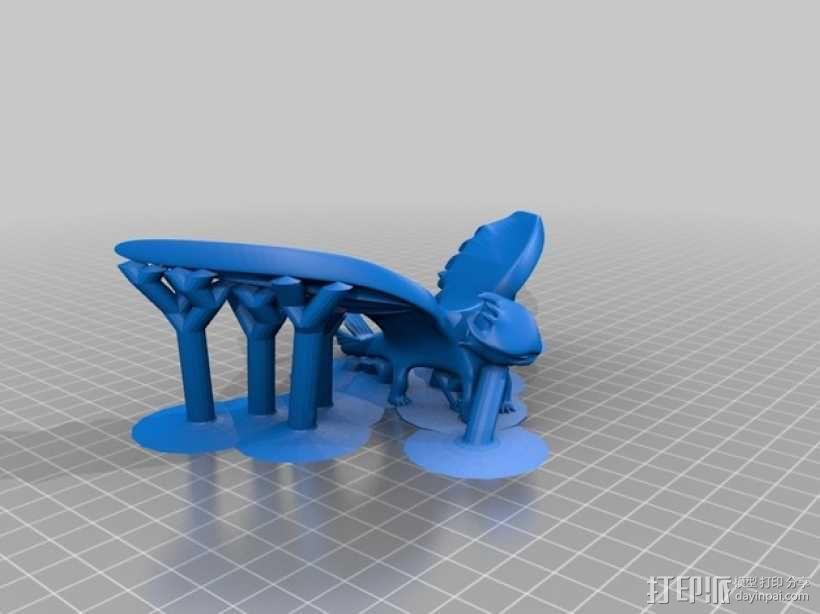 """《驯龙高手》""""夜煞""""龙 3D模型  图2"""