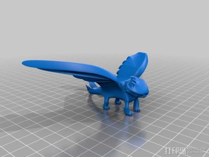 """《驯龙高手》""""夜煞""""龙 3D模型  图3"""