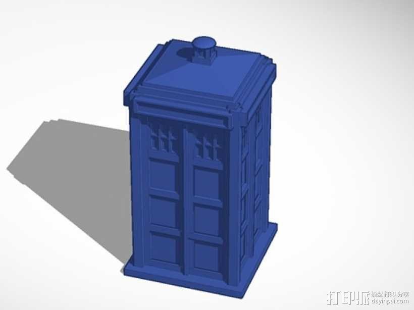 《神秘博士》塔迪斯 3D模型  图1