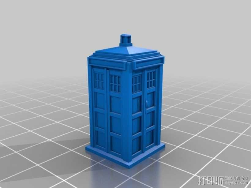《神秘博士》塔迪斯 3D模型  图2