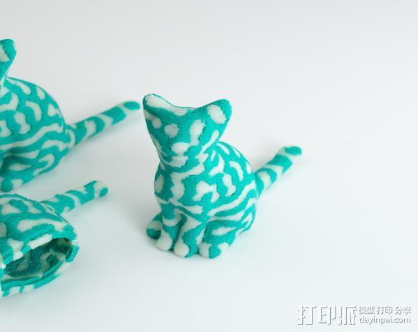 双色猫 3D模型  图6
