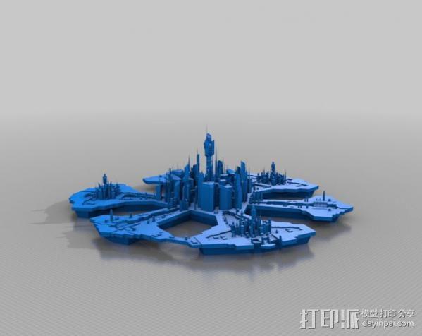 亚特兰蒂斯 都市 3D模型  图2