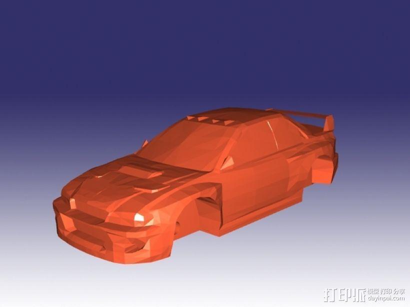 斯巴鲁 翼豹轿车 3D模型  图2