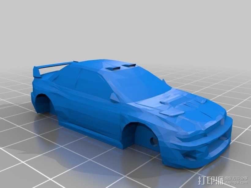 斯巴鲁 翼豹轿车 3D模型  图1