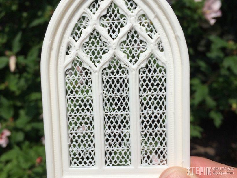 教堂窗户 3D模型  图1