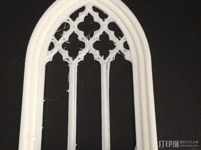 教堂窗户 3D模型  图3