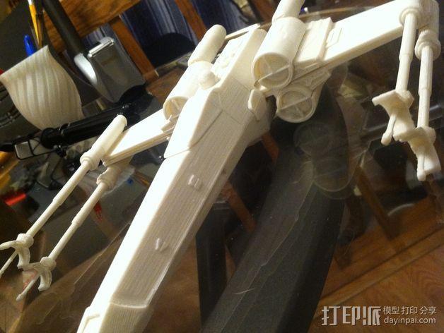 《星球大战》X翼战斗机 3D模型  图2