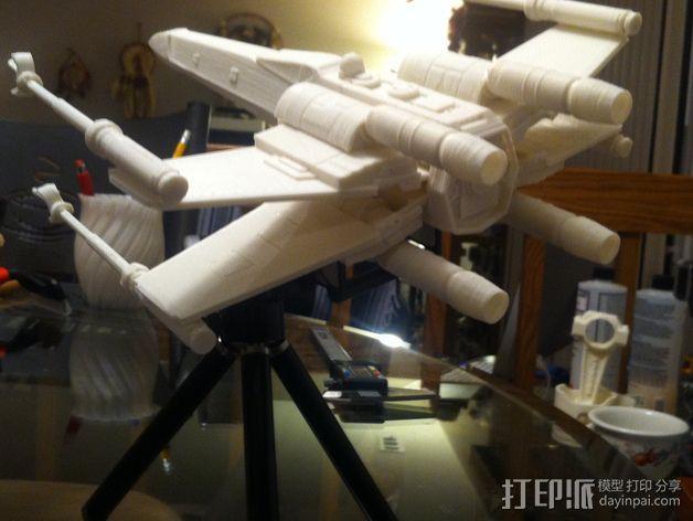 《星球大战》X翼战斗机 3D模型  图4