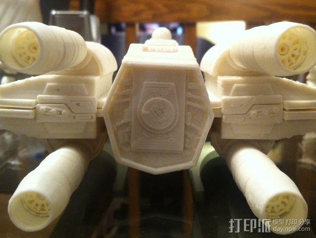 《星球大战》X翼战斗机 3D模型  图5