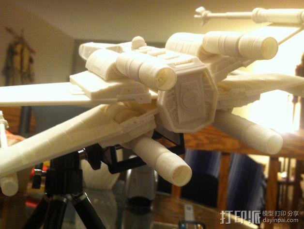 《星球大战》X翼战斗机 3D模型  图6