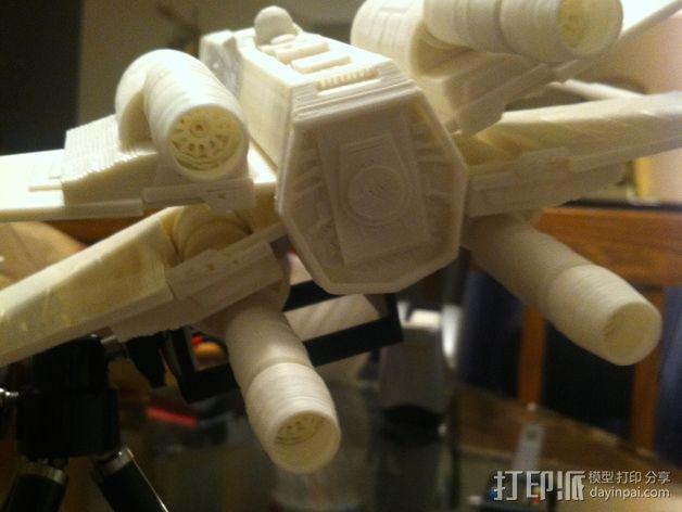 《星球大战》X翼战斗机 3D模型  图7