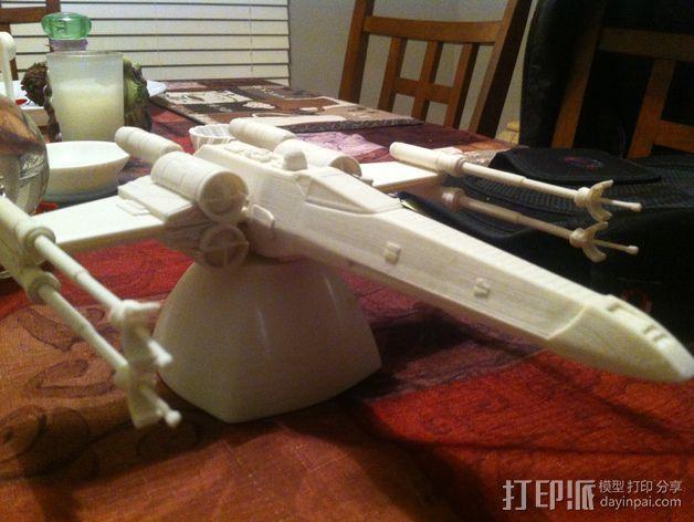 《星球大战》X翼战斗机 3D模型  图9
