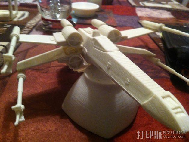 《星球大战》X翼战斗机 3D模型  图10