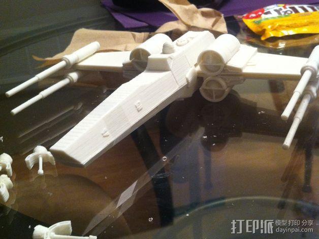 《星球大战》X翼战斗机 3D模型  图31