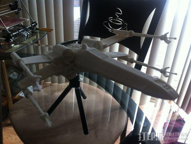 《星球大战》X翼战斗机 3D模型  图37