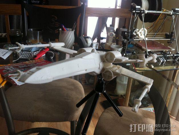 《星球大战》X翼战斗机 3D模型  图35