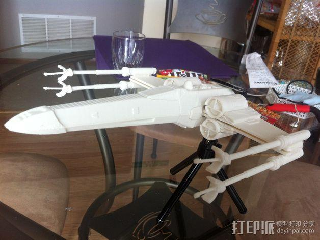 《星球大战》X翼战斗机 3D模型  图39