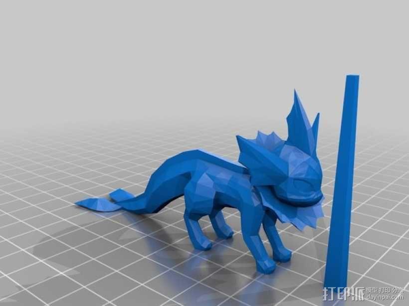 《神奇宝贝》水精灵  3D模型  图2