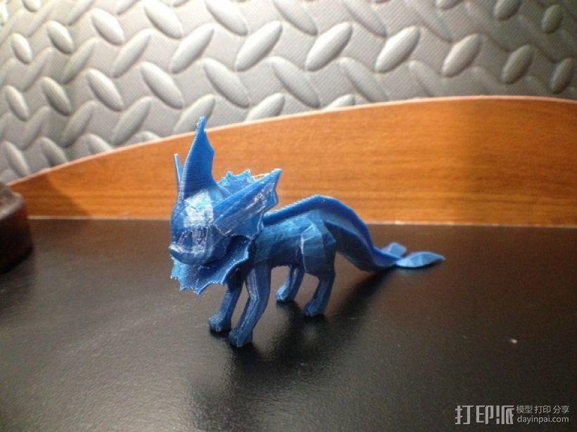 《神奇宝贝》水精灵  3D模型  图1