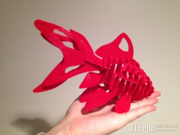金鱼 - 3D拼图 3D模型  图2