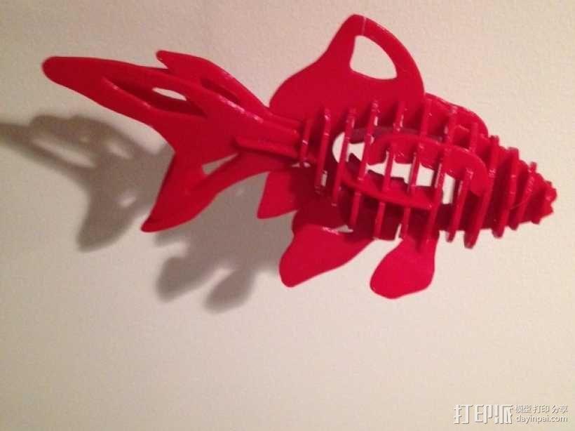 金鱼 - 3D拼图 3D模型  图1