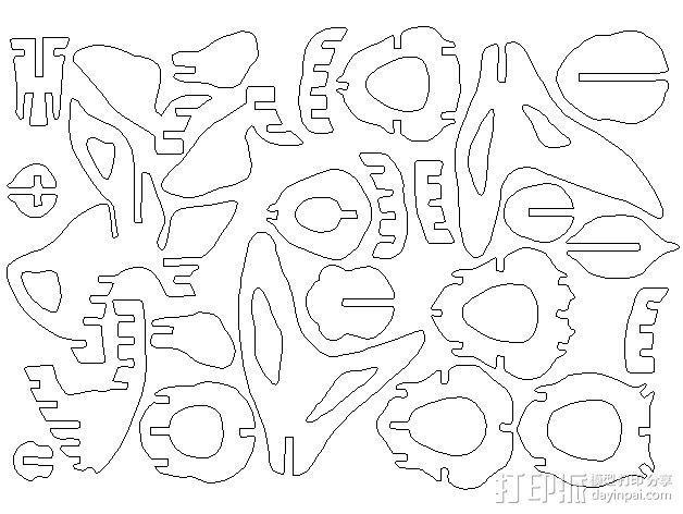 金鱼 - 3D拼图 3D模型  图30