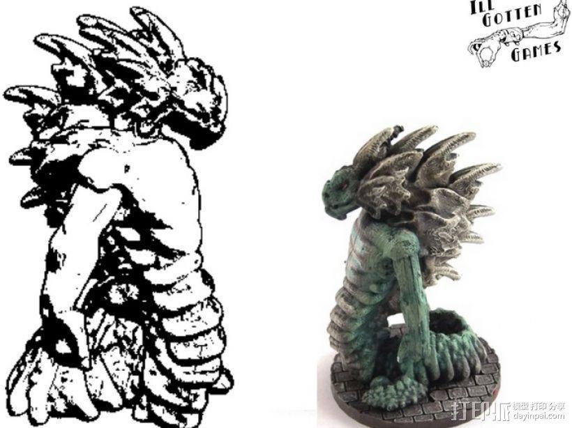 蛇怪 3D模型  图1