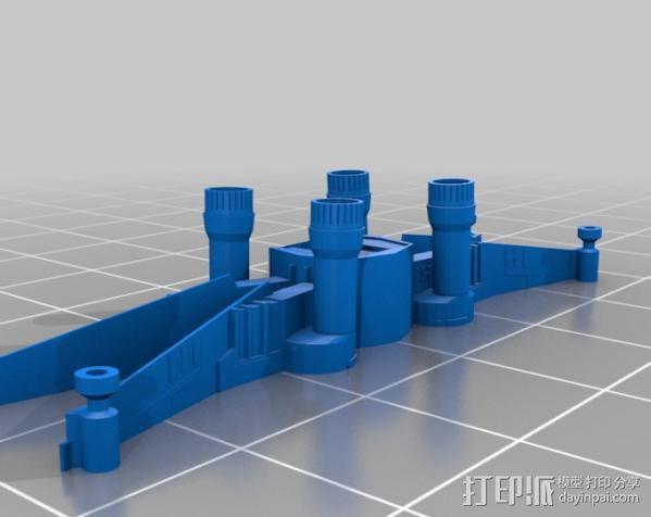 《星球大战 》X翼战机 3D模型  图3