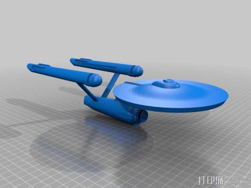 进取号星舰 3D模型  图1