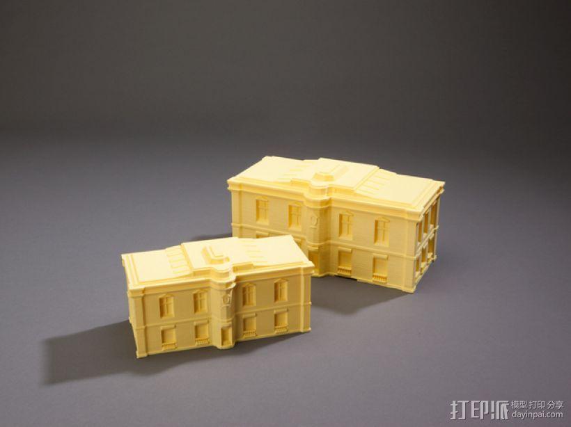巴黎风格公寓 3D模型  图1