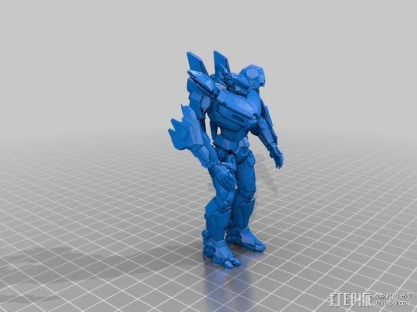 电影《环太平洋》机甲 3D模型  图1