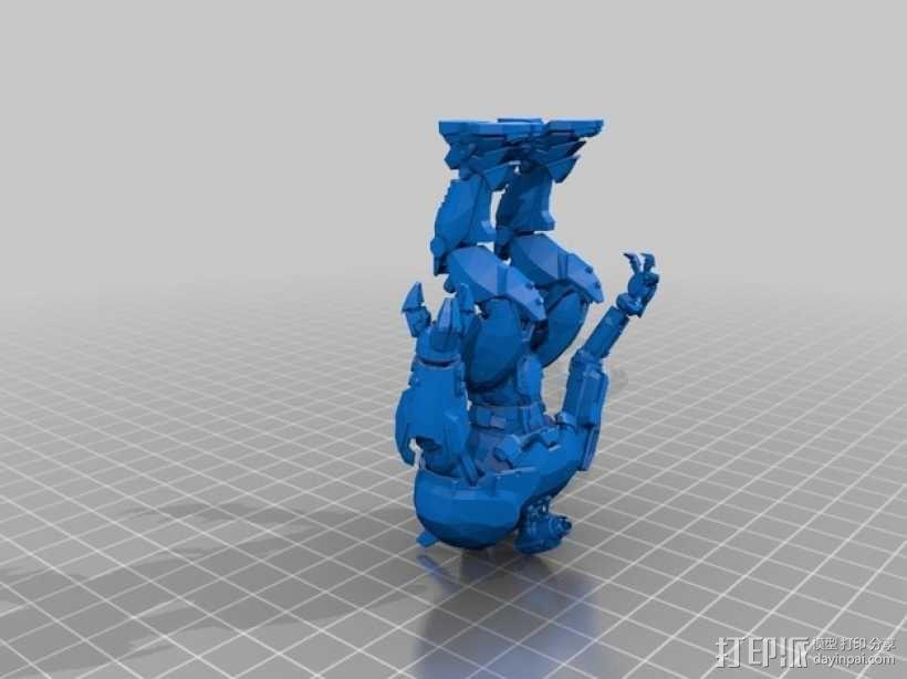 电影《环太平洋》机甲 3D模型  图2