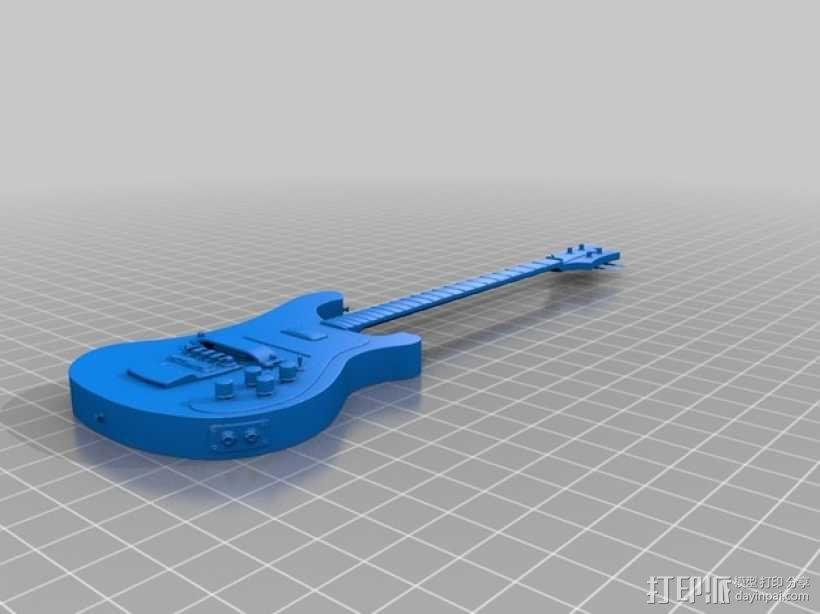 Rickenbacker 4001 贝斯吉他 3D模型  图2