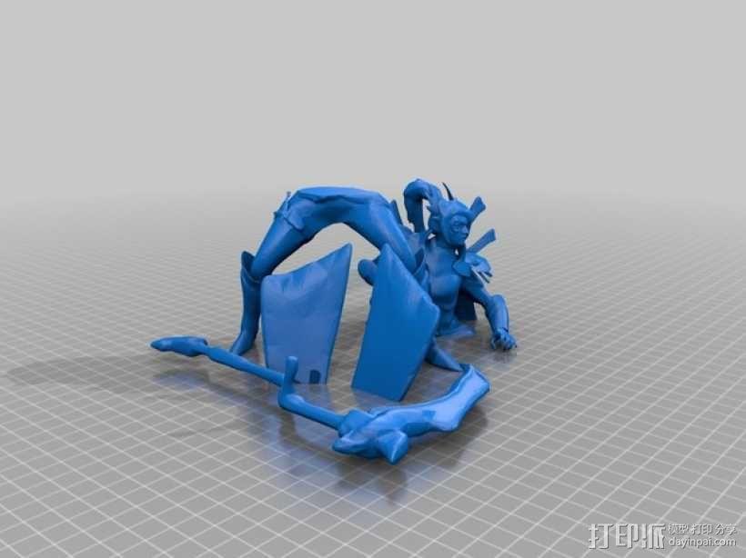 Dota 2 幻影刺客 3D模型  图2