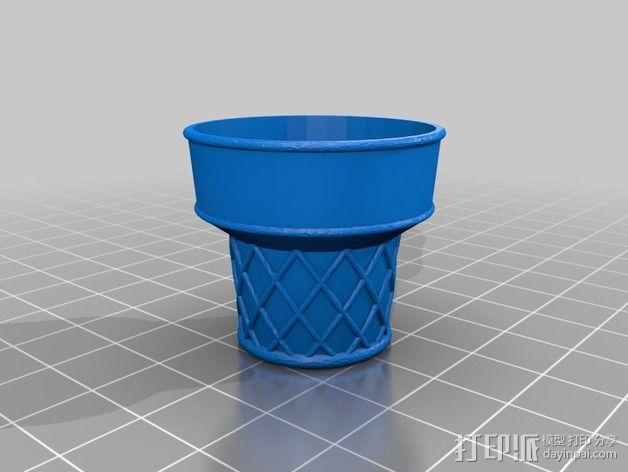锥形冰淇淋 底杯 3D模型  图2