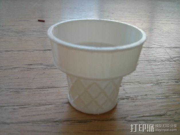 锥形冰淇淋 底杯 3D模型  图3