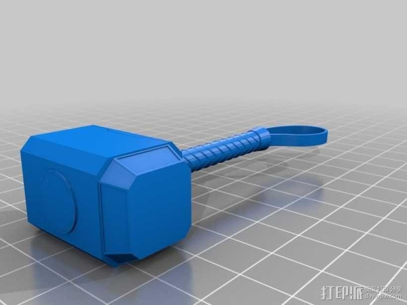 雷神之锤 3D模型  图1