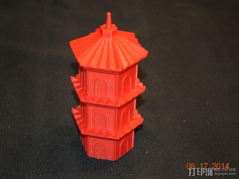 宝塔 3D模型  图1