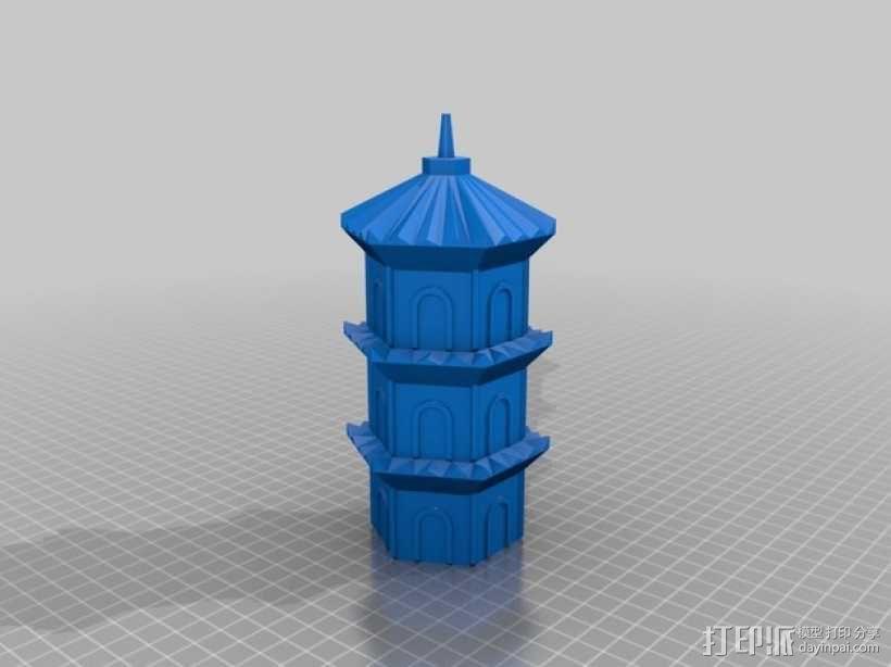 宝塔 3D模型  图2