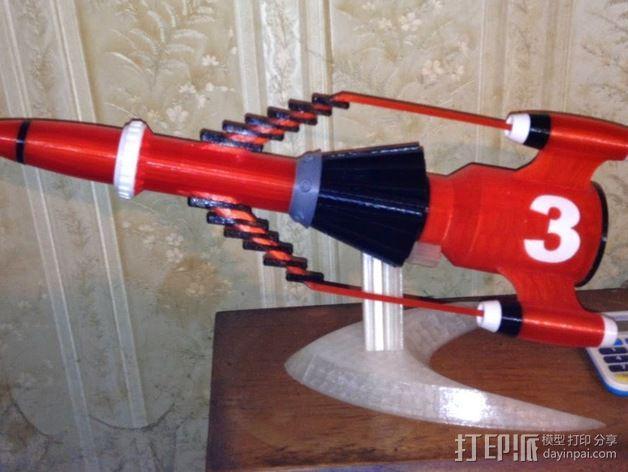 """""""雷鸟3""""飞行器 3D模型  图2"""