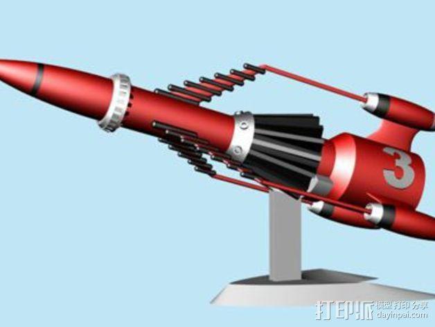 """""""雷鸟3""""飞行器 3D模型  图1"""