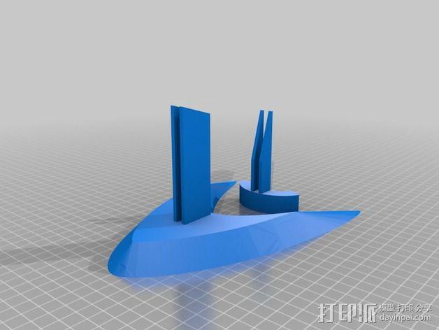 """""""雷鸟3""""飞行器 3D模型  图3"""
