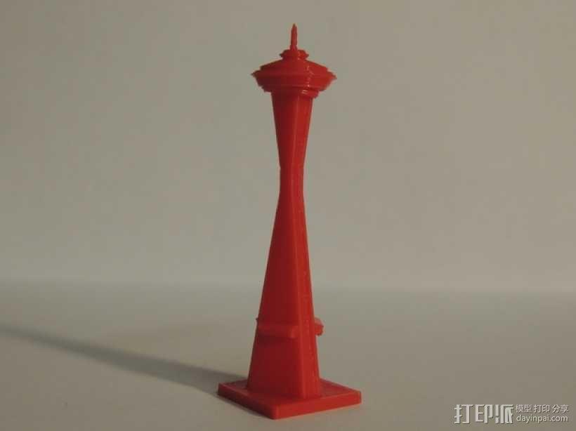太空针塔 3D模型  图1